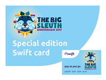 £10 Special Edition The Big Sleuth Swift Card - includes a £3 donation to Birmingham Children's Hospital